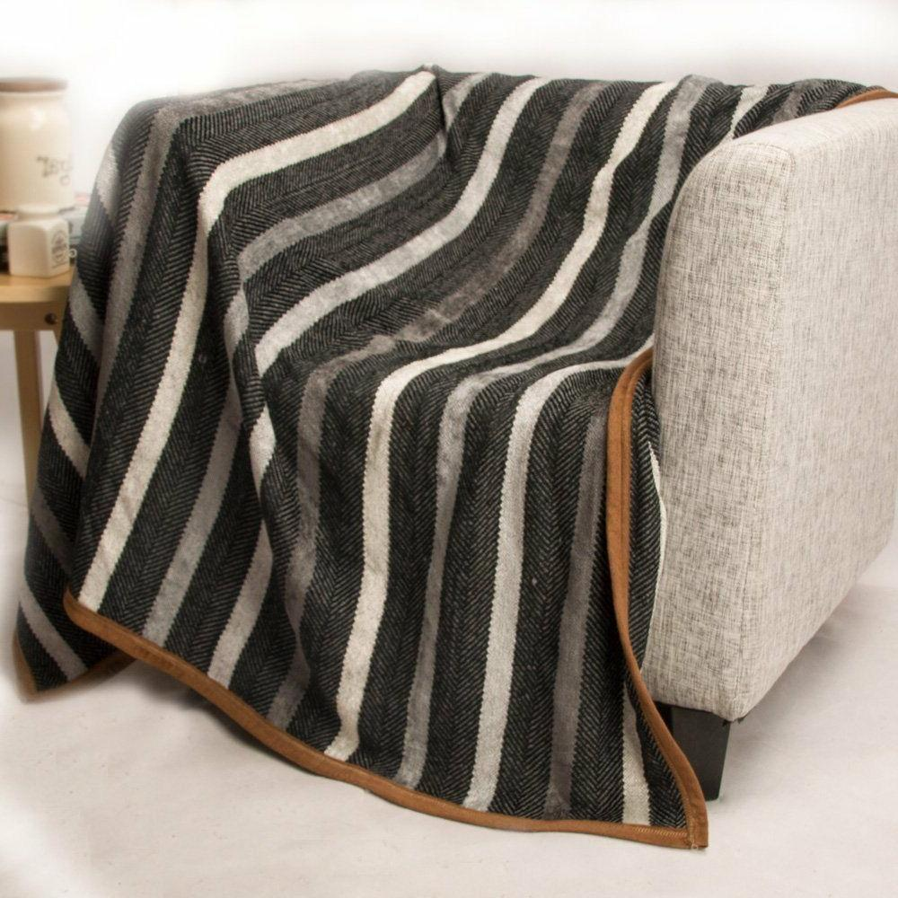 casual strip comfortable throw blanket 50 x