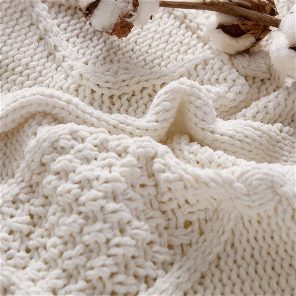 Chenille Lambs Thickening <font><b>Knitted</b></font> <font><b>Throw</b></font> Double Sherpa Plush Fleece for Beds Sofa Bedspread