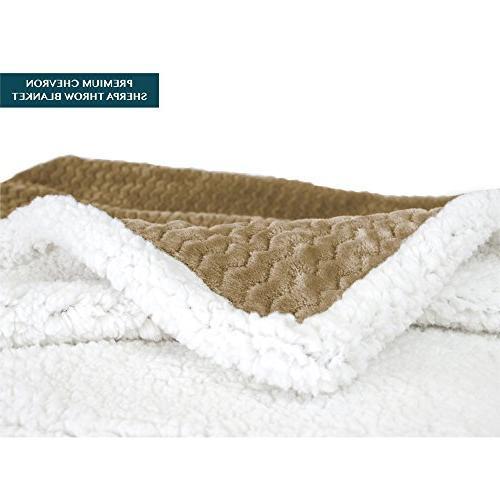 PAVILIA Chevron Couch, Plush, Fuzzy Microfiber Textured for
