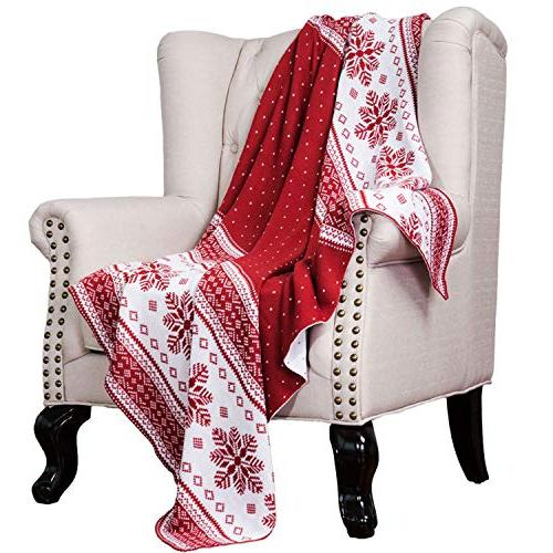 christmas decorative throw knitted woven