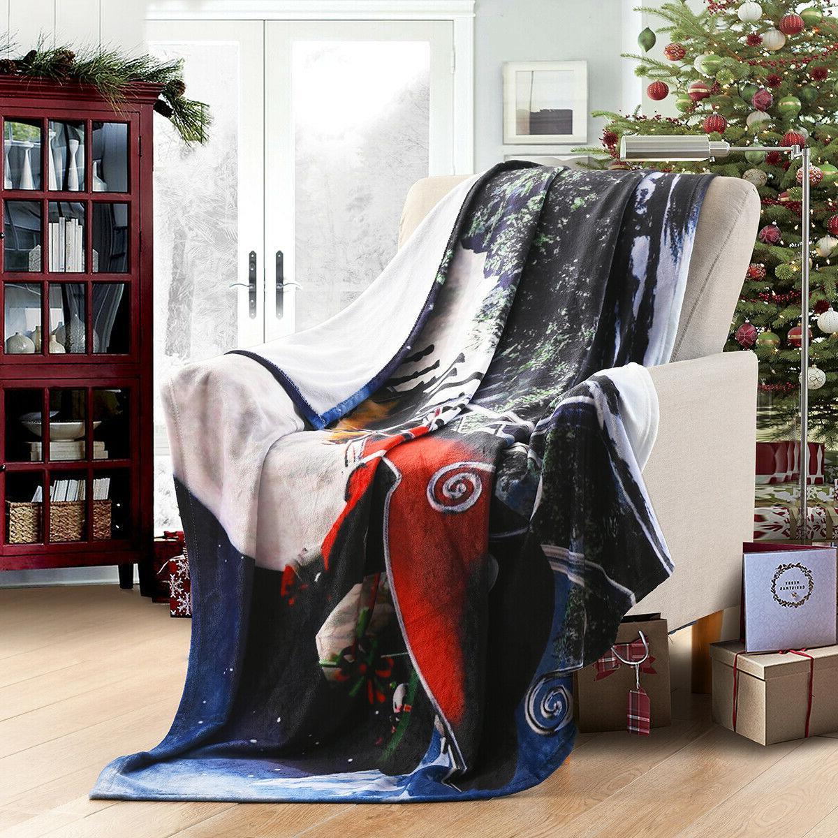 """Holiday Fleece Throw Blanket Fuzzy Gift 50""""x"""