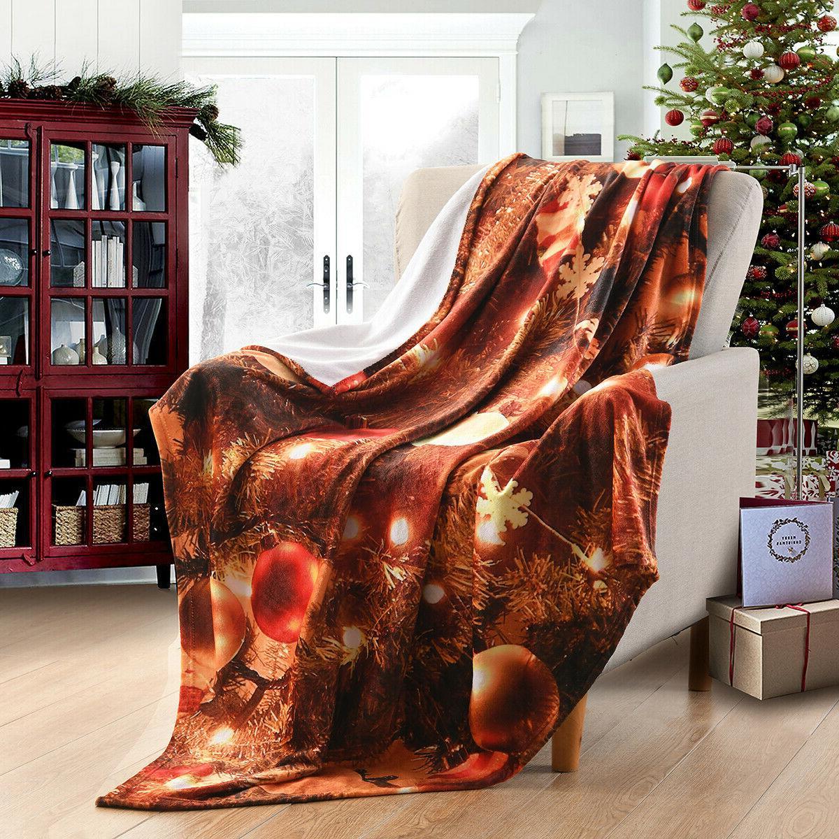 "Holiday Fleece Fuzzy Warm Gift 50""x"