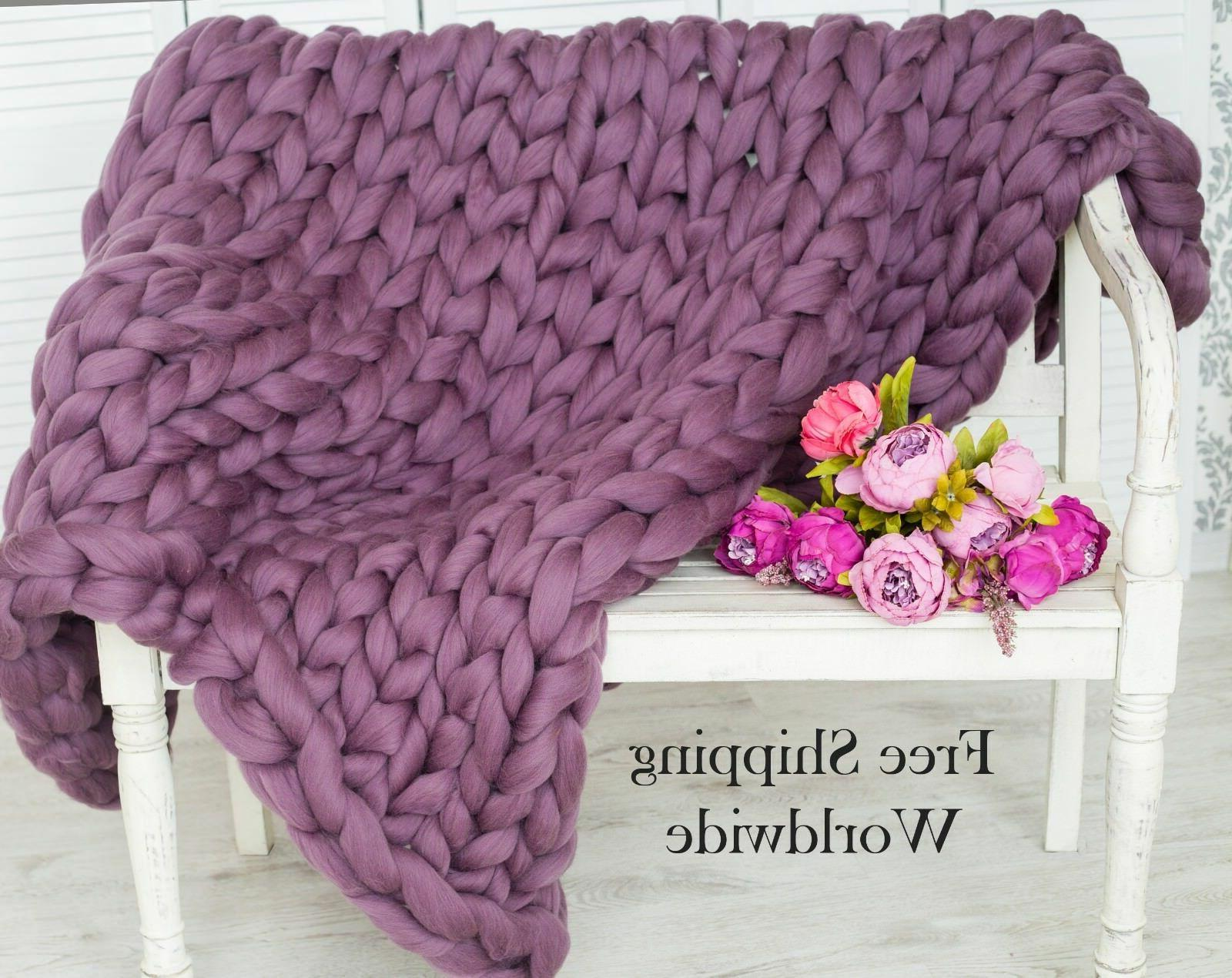 Chunky Knit Blanket Throw Knitted Blanket