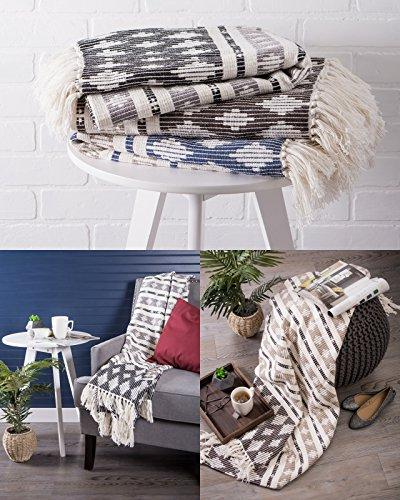 DII Classic Cotton Handwoven Blanket Throw Chair, Couch BBQ, Camping,