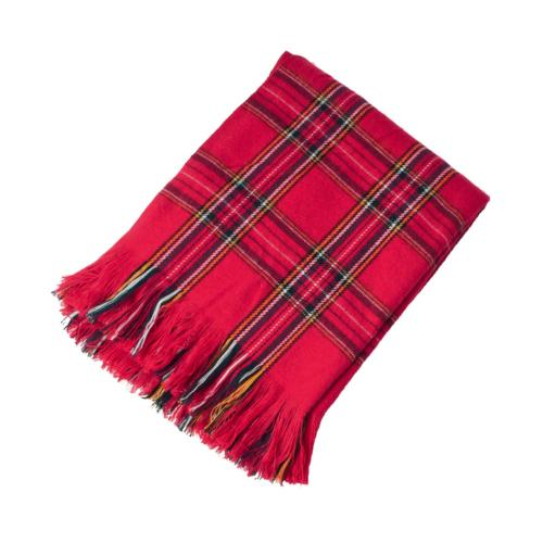 classic red plaid design throw blanket 50