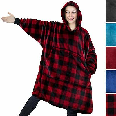 comfy hoodie sweatshirt wearable blanket with hood