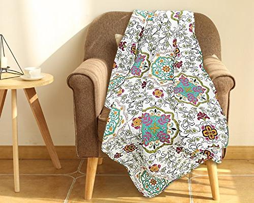 comfy reversible rustic floral quilted