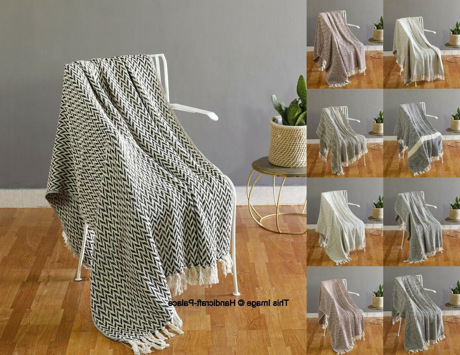 Cotton Hand Woven Blanket 60 inches