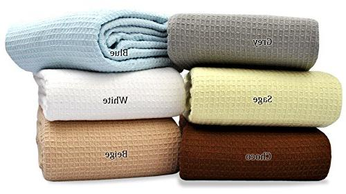 cotton throw blanket breathable thermal