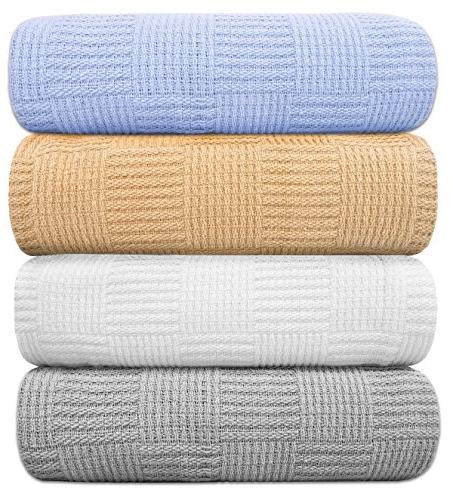 cotton throw blankets breathable thermal