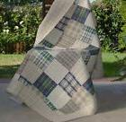 Quilted Throw For Couch Plaid Squares Cotton Blanket Quilt S