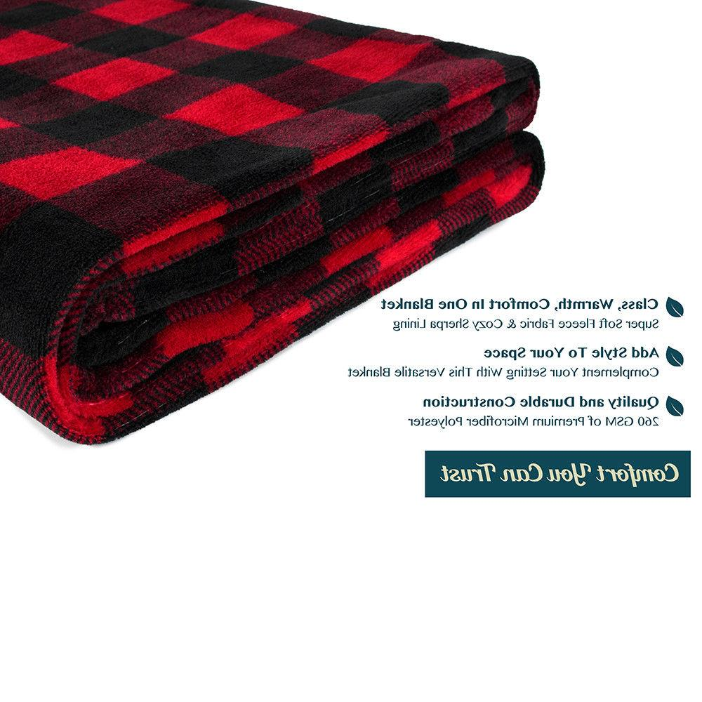 Cozy Soft Microfiber Flannel Fleece Winter Plaid