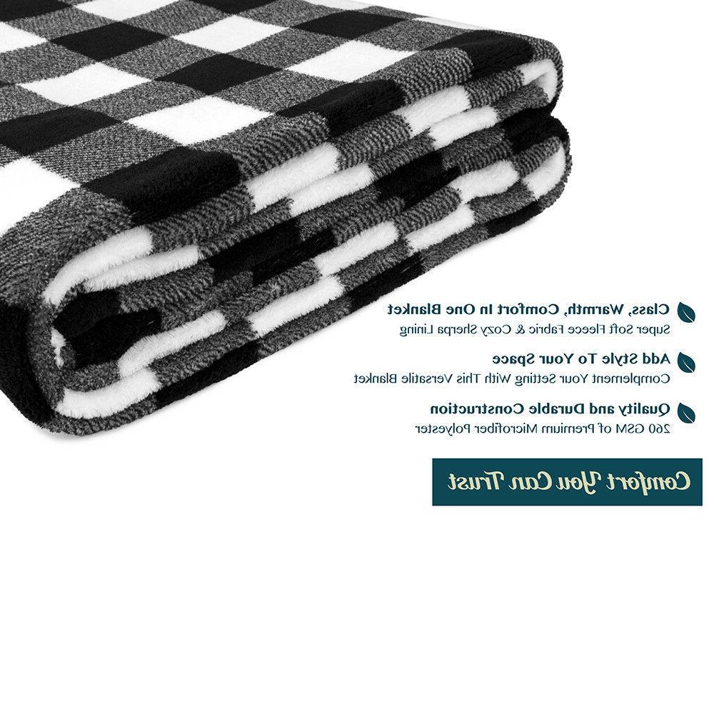 Cozy Fleece Blanket Winter Checkered