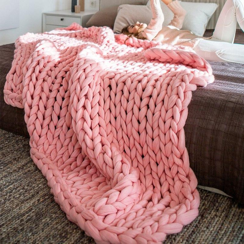 crocheted bed sofa font b blanket b