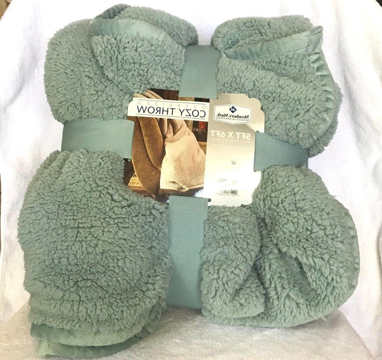 Cuddly Sherpa Throw Reversible x Ft!