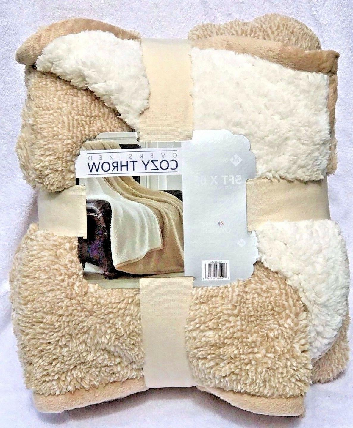 Cuddly Cabin Sherpa Reversible Oversized x 6 Ft!