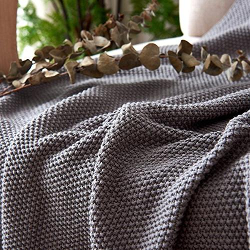 Dark Grey Cotton Knit Couch Sofa x Inch pounds With Washing