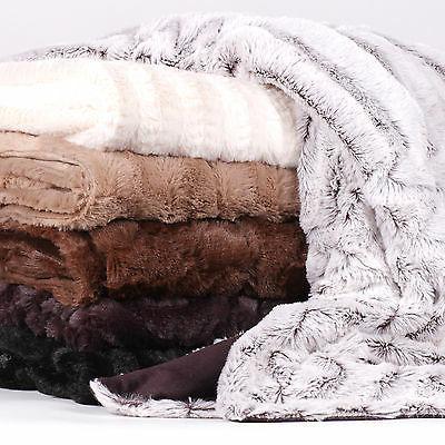 decorative reversible faux fur mink