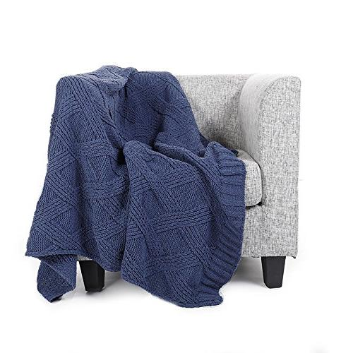 Battilo Diamond Chenille Blanket Couch All 50 x 60