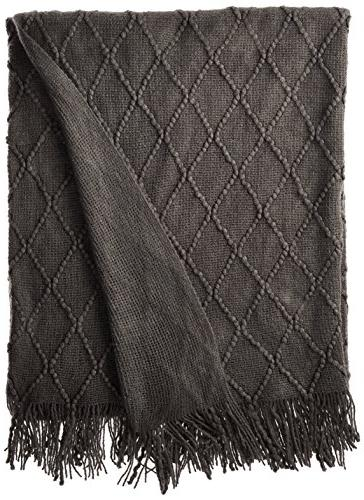diamond pattered woven decorative throw
