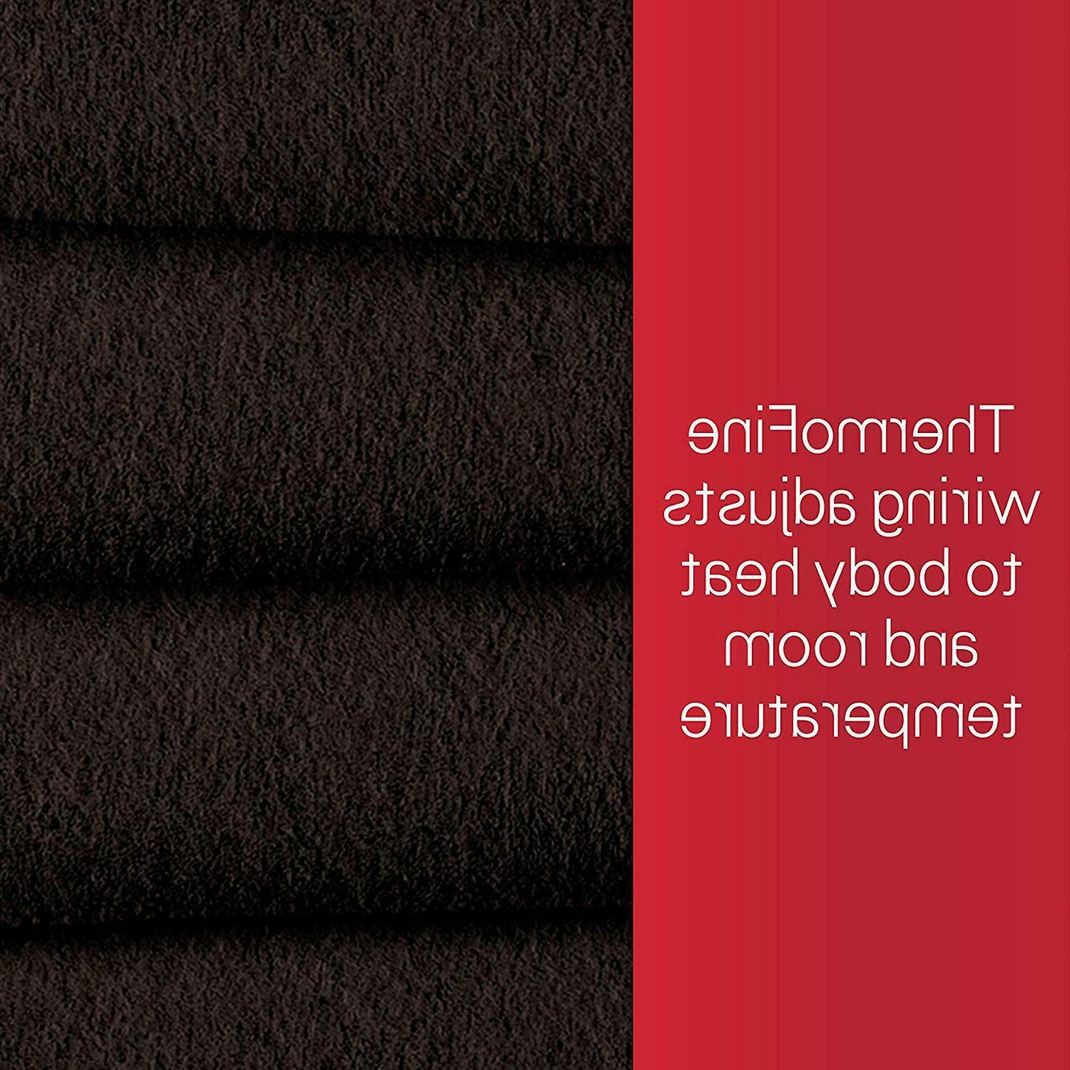 Electric Fleece Throw Winter Sunbeam Full Walnut