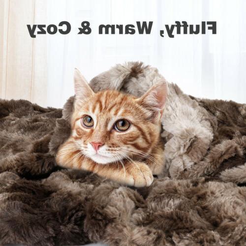 Faux Blanket Warm Bedding Sofa Lightweight Throw x