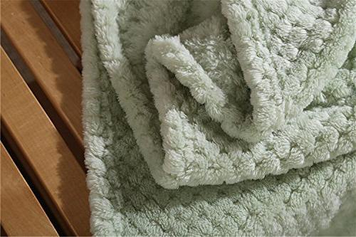Absolutely Fleece Light Leisure Bedding Throw Blanket Light Green Queen