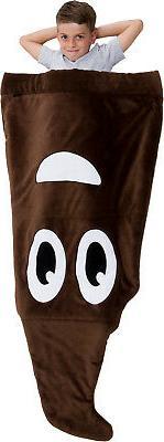 Silver Lilly Emoji Fleece Blanket - Novelty Plush Sleeping B