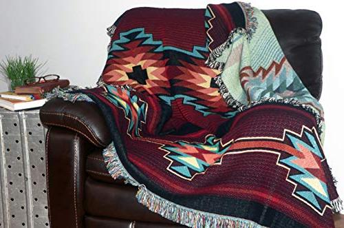 Pure Country Esme Geometric American Tapestry Throw Made The USA Perfect Decor Mother