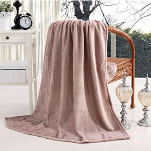 exclusivo mezcla luxury flannel velvet plush throw
