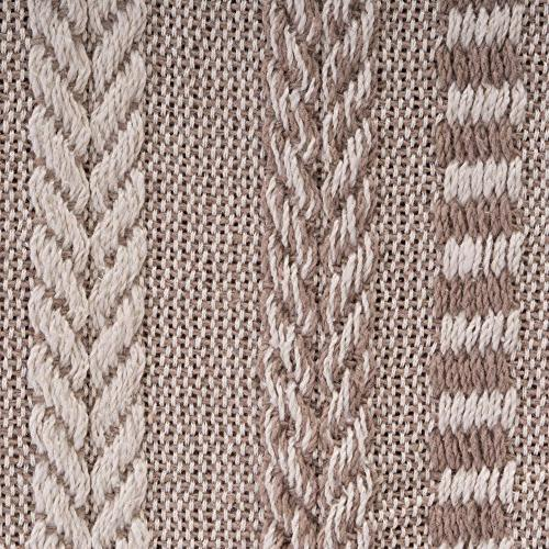 """DII Farmhouse Cotton Blanket For Couch, Picnic, Camping, Beach, Use , 60"""" - Braided Stone"""