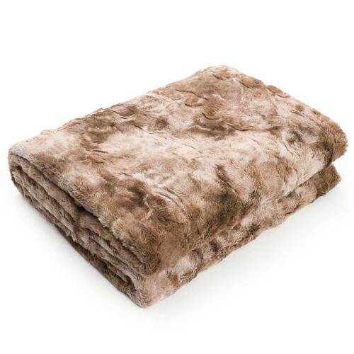 Faux Throw Plush Sherpa for Tie-Dyeing Home