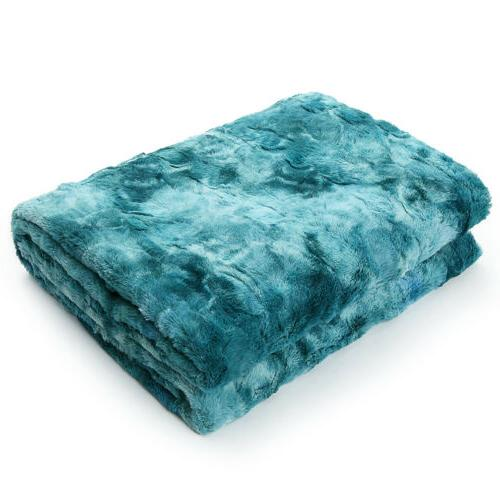 Faux Plush Soft for Bed Sofa Tie-Dyeing