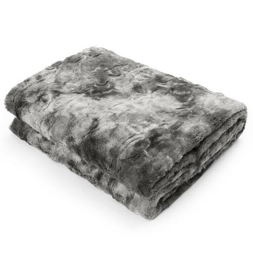 Faux Plush Soft for Couch Sofa Tie-Dyeing Home