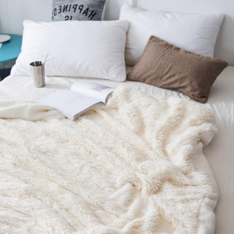 Faux <font><b>Throw</b></font> <font><b>Blanket</b></font> Sheepskin Warm Shaggy for Kids Adults Twin