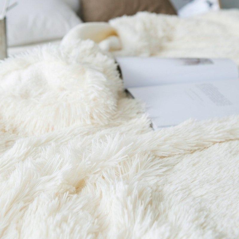 <font><b>Blanket</b></font> Sheepskin Warm Shaggy for Kids Adults Gift Twin Size