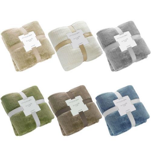 Faux Fur Reversible Throw Sherpa Plush Bed Sofa Blanket