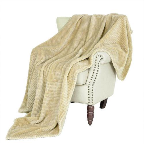 Faux Fur Sherpa Soft Plush Bed Sofa Blanket