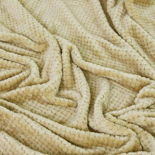 Plush Throw Blanket Soft Fur for Couch Bed