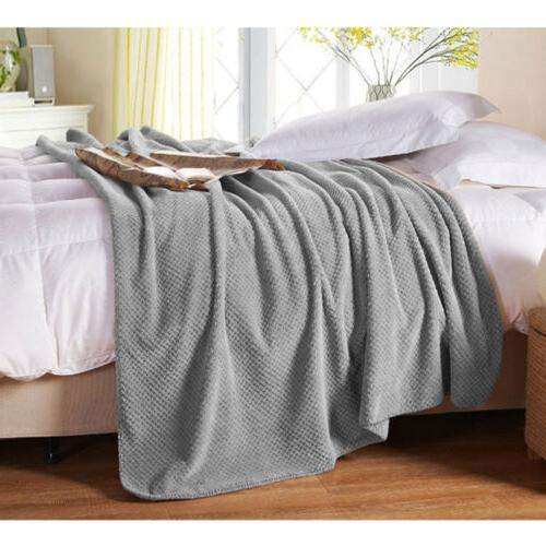Faux Sherpa Soft Fleece Plush Warm Sofa Blanket