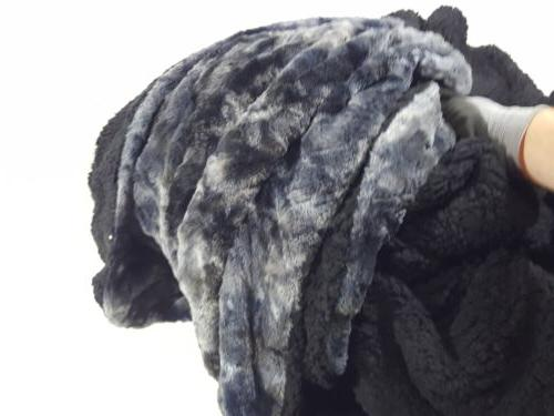 Bedsure Tie-dye Sherpa Throw Blanket for Sofa, Couch