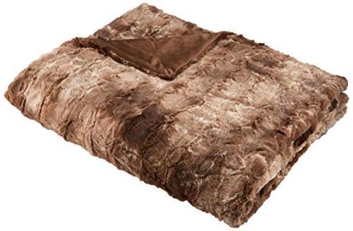 Pinzon Fur Throw Blanket Alpine