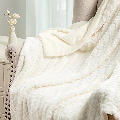 Bedsure Faux Fur Fleece Super Soft Throw Adults