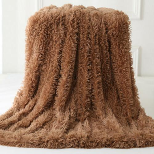 Reversible Faux Blanket Sofa Shaggy
