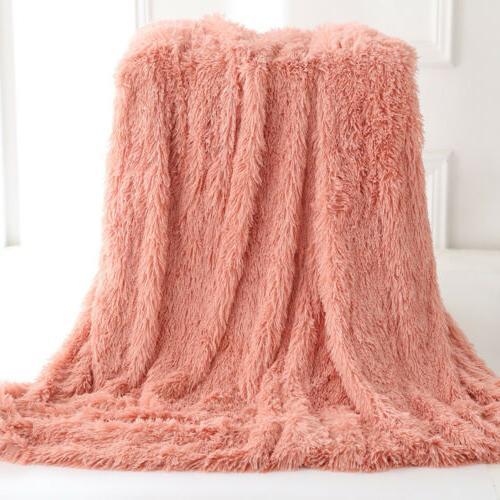 Reversible Soft Fluffy Shaggy Sofa Decor