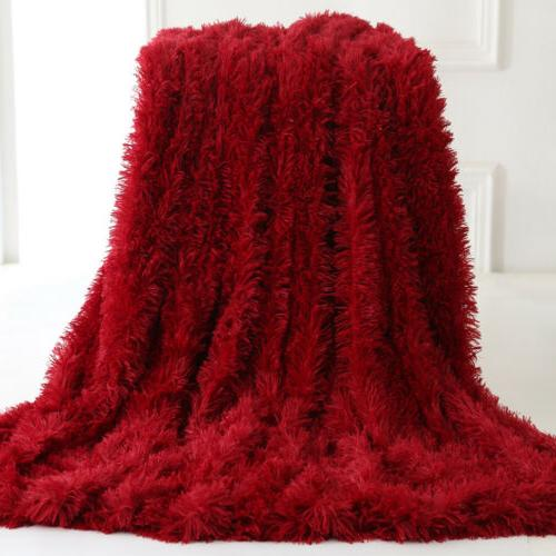 Faux Reversible Soft Fluffy Shaggy Decor
