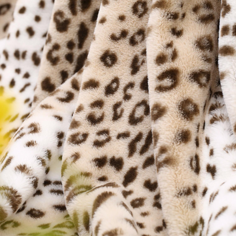Faux - Cozy Warm Fur Leopard Pattern