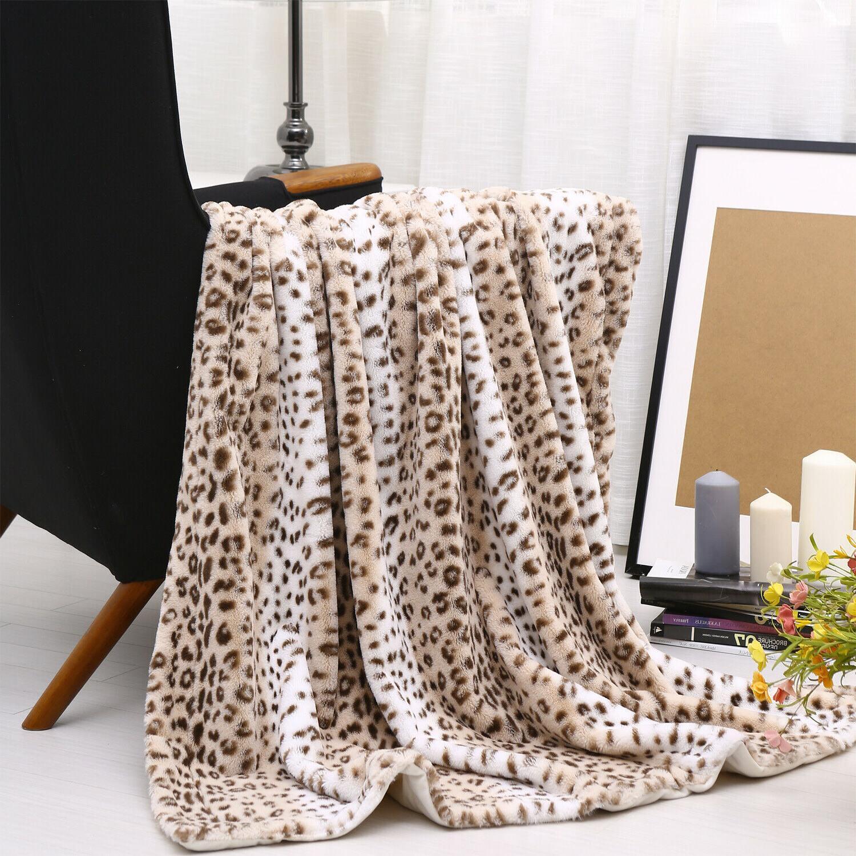 Faux - Soft Cozy Warm Leopard Pattern