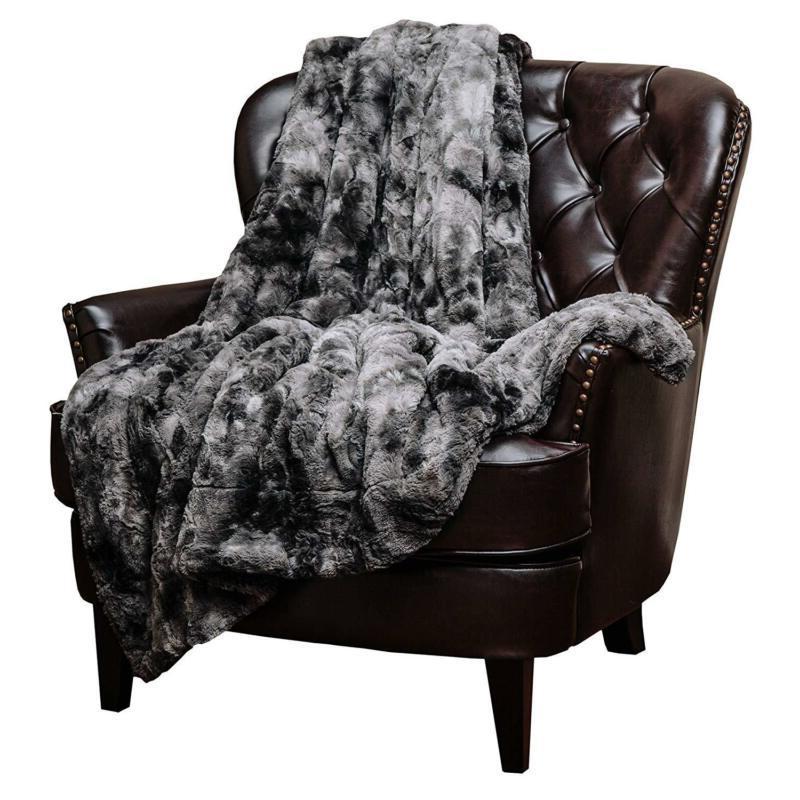 Chanasya Fur Throw Blanket Soft Fuzzy Light Cozy