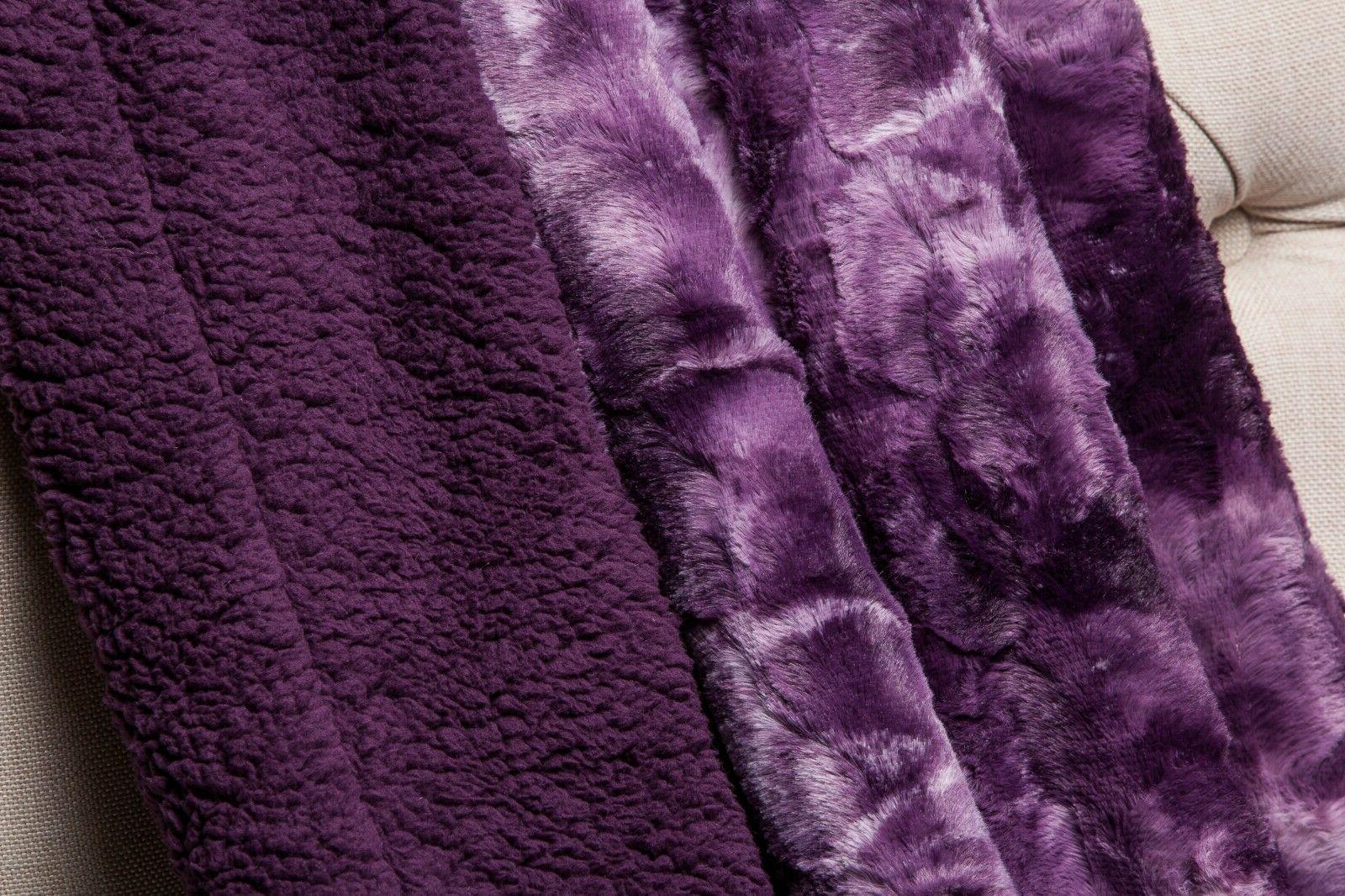 Chanasya Faux Throw Blanket Fluffy Couch Sofa
